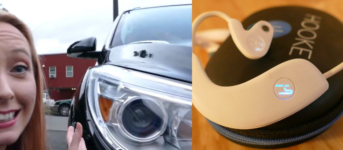 Examples of devices with non-imaging optics: 2013 Buick Enclave headlamp (which may be a project I personally was engineer on and had multiple migraines over) and LED-powered indicator light on Hooke Verse headphones.
