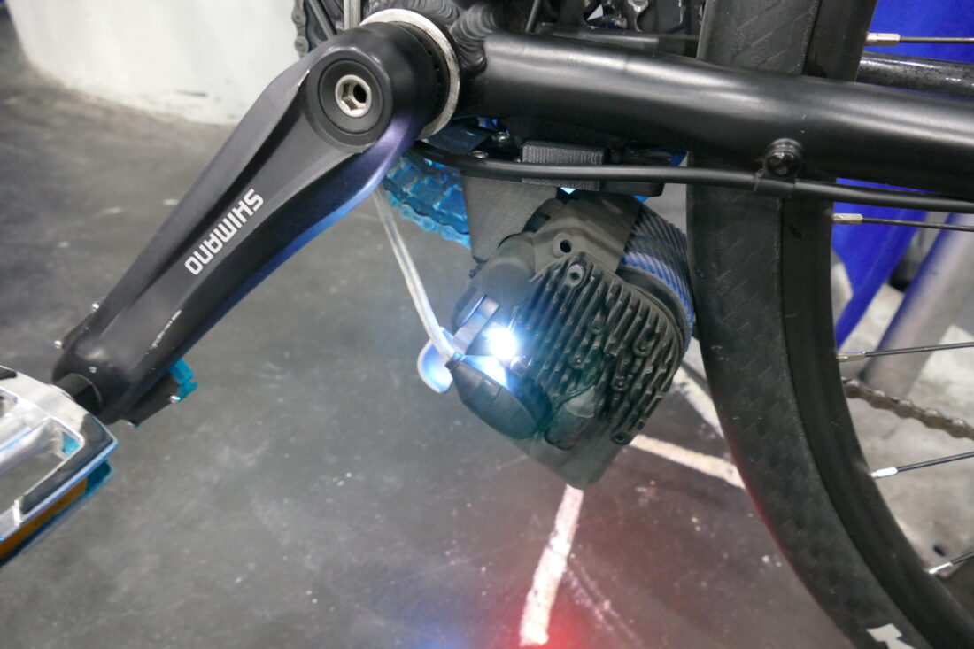 ONEMOTOR's snap-on accessory makes this an electric bike in seconds!