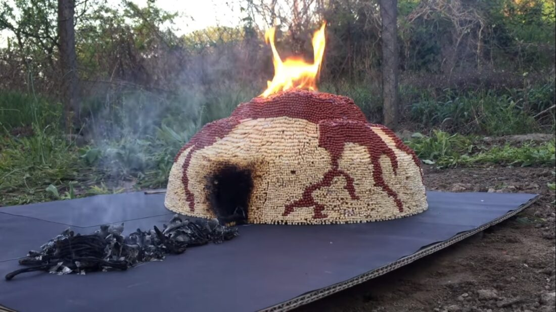 matchstick volcano