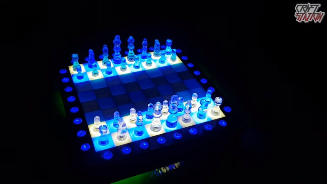 epoxy resin chess set