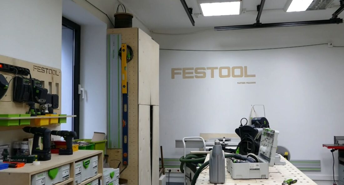 The FabLab's members are pretty stoked Festool partners with them to create their woodworking space...and stocks it with lots of toys.