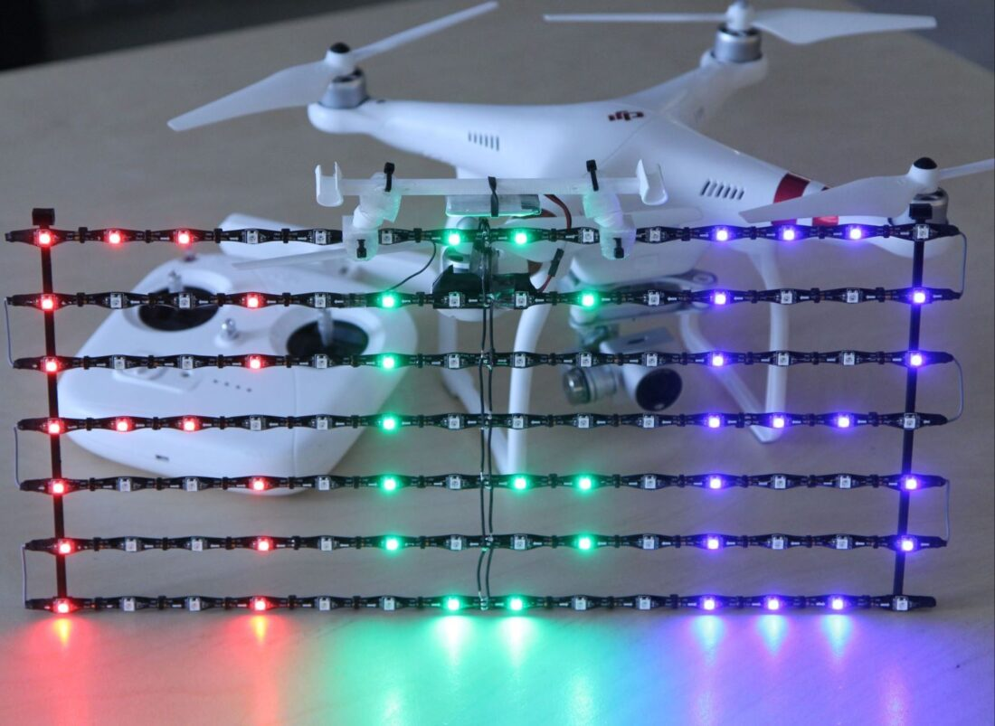 Wow Ads using drones to write messages with LEDs! Yesss.