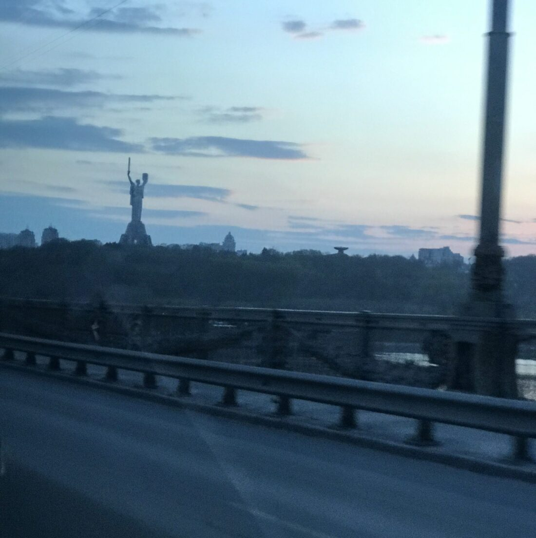 Crossing the river to the Oakland of Kiev.