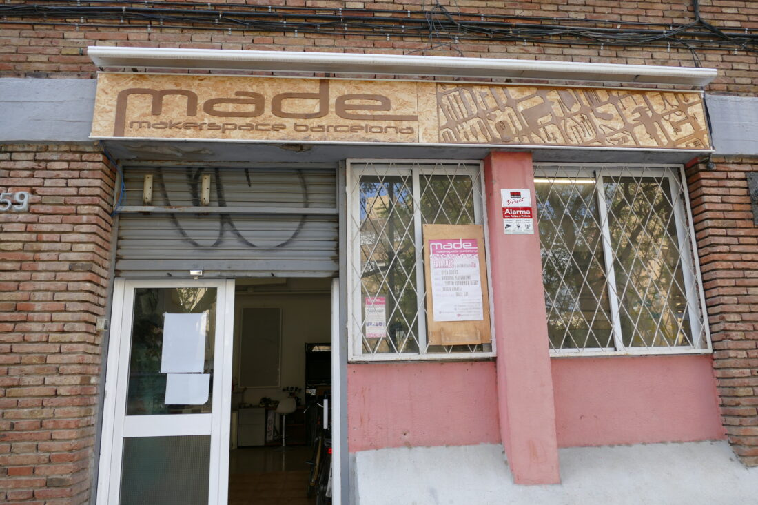 Outside of MADE Makerspace in Barcelona. Enter here for the tour!