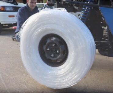 Saran Wrapped Tires