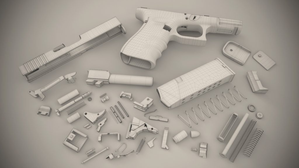 glock 3d animation