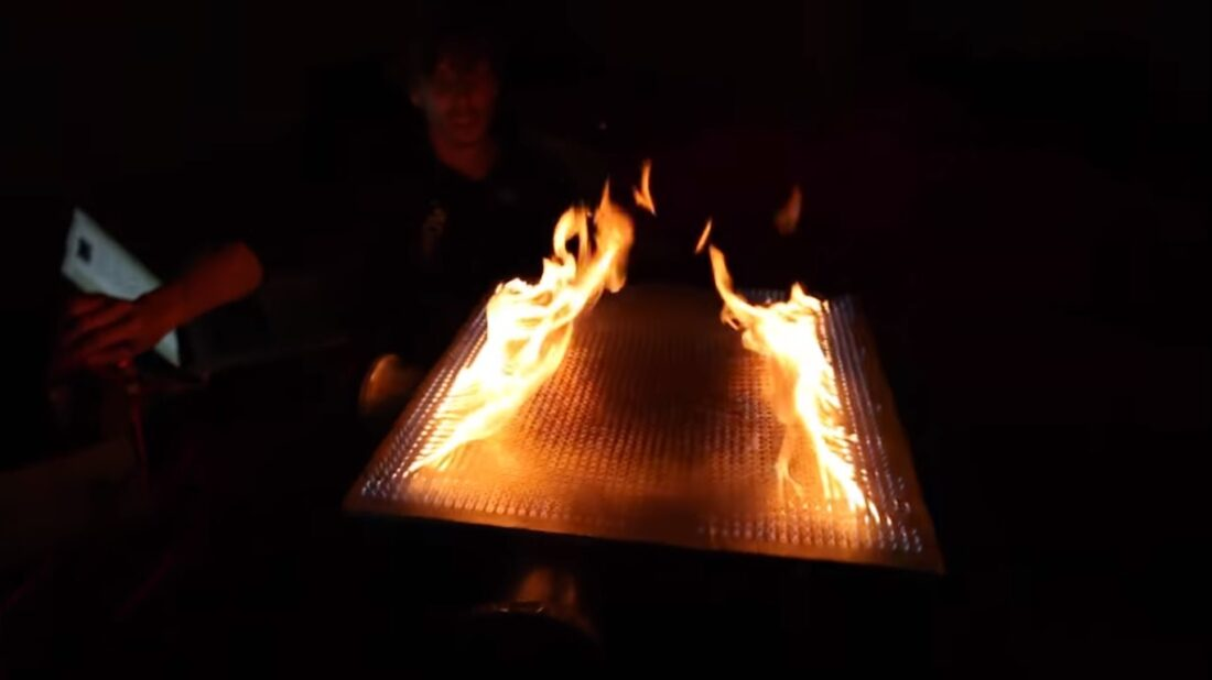 musical fire table