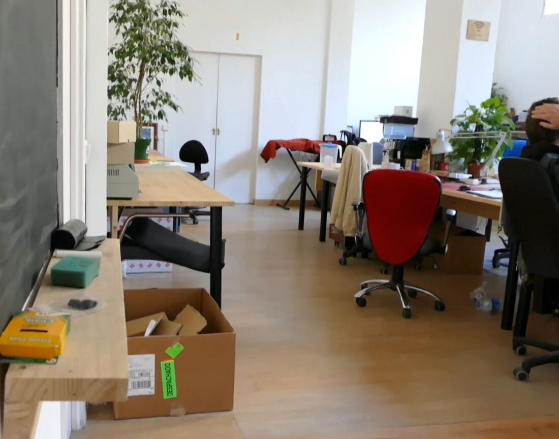 A peek into the quiet work area inside MADE Makerspace Barcelona.