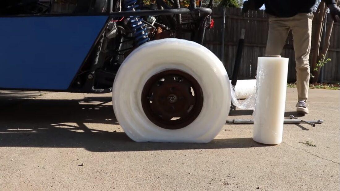 saran wrap dune buggy wheels