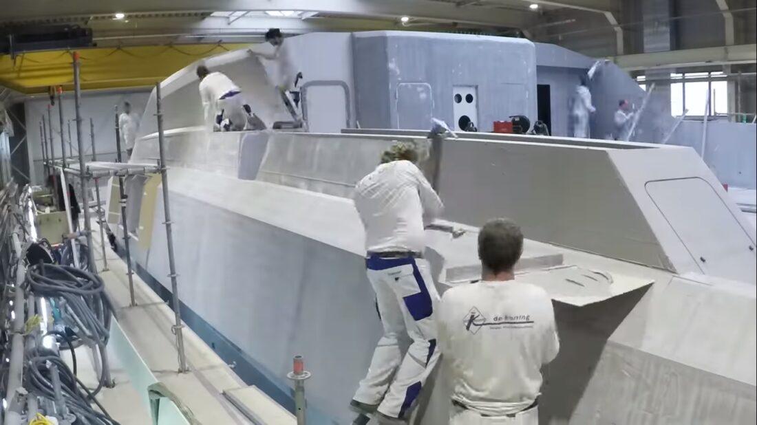 superyacht timelapse