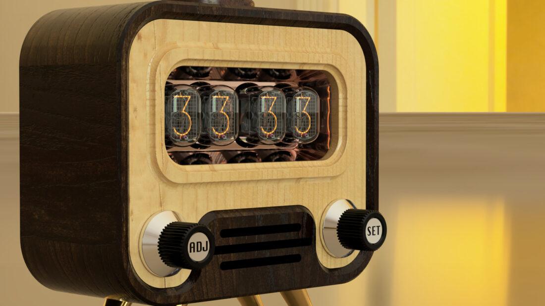 Model of the Week: Nixie Clock TV [Turn on the Vintage