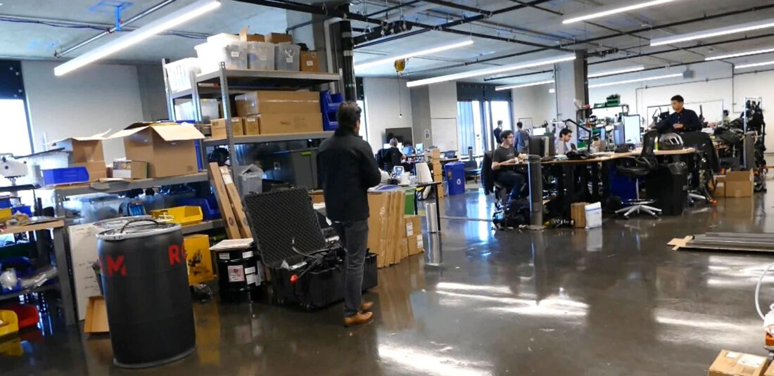 Inside the main office space of Roam Robotics.