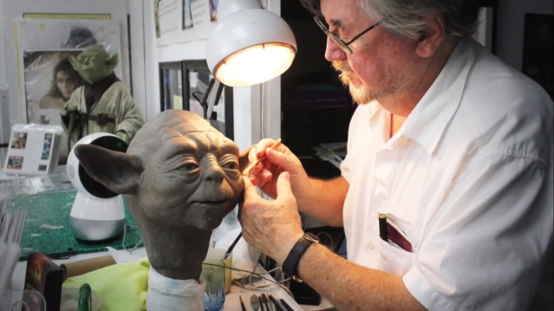 Nick Maley Yoda updated puppet