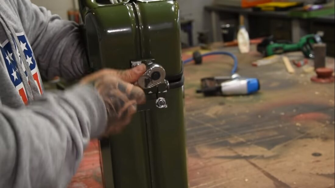 gasoline tank toolbox