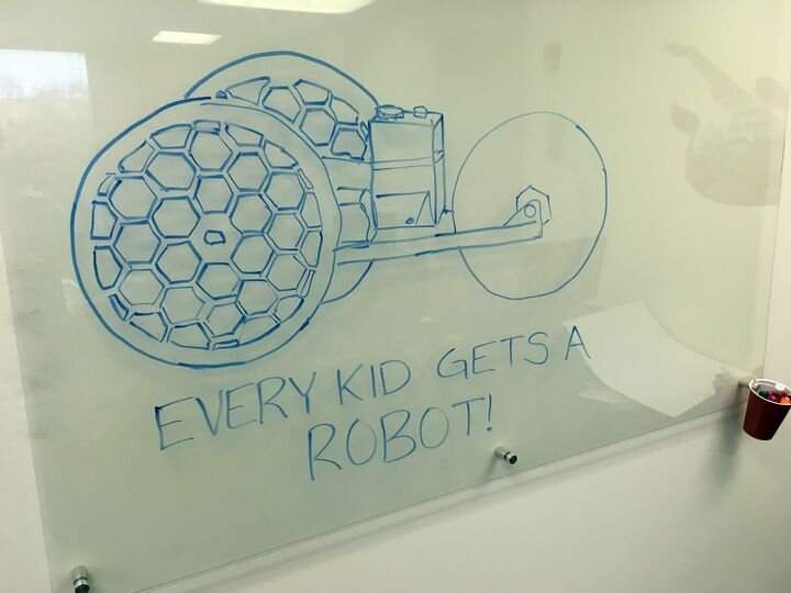 """Every Kid Gets A Robot"" robot [Source: Danielle Boyer]"
