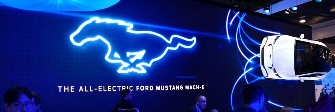 "The all-electric Ford ""Mustang"" Mach-E."