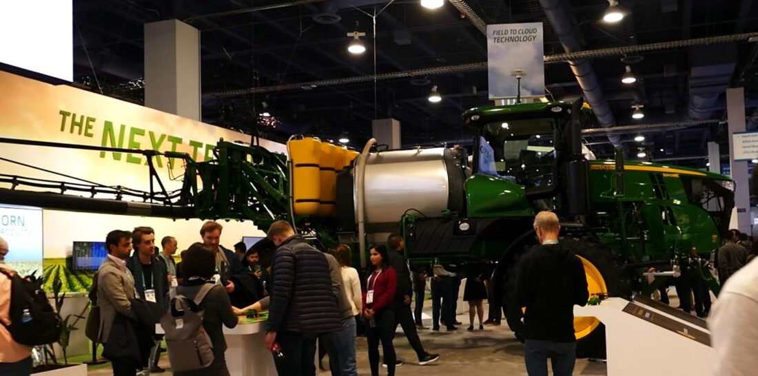 John Deere competing for the Biggest Booth Prop Award for CES 2020.