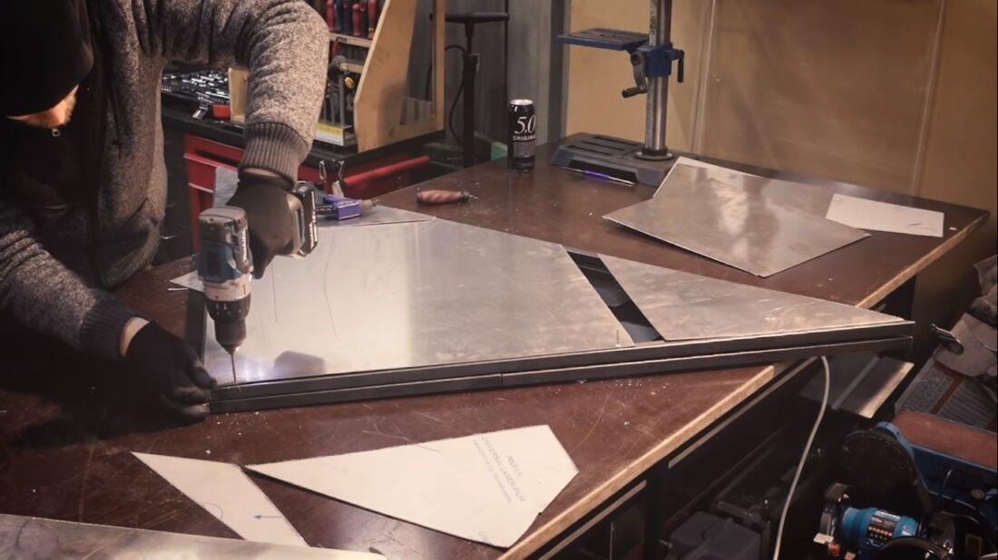 metal folding door