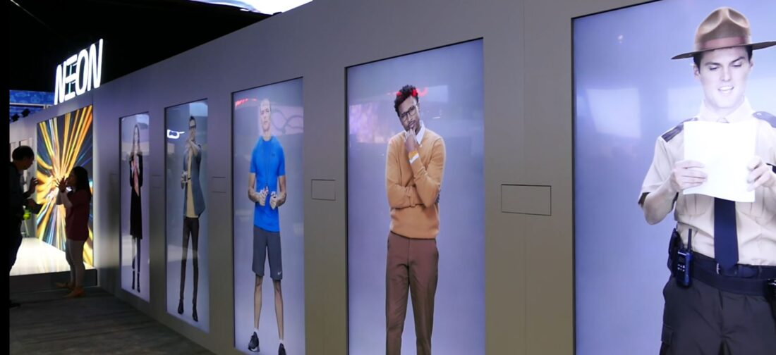"Neon's ""Virtual Humans"" on display at CES but for ""demonstration purposes only"". HMMMM."