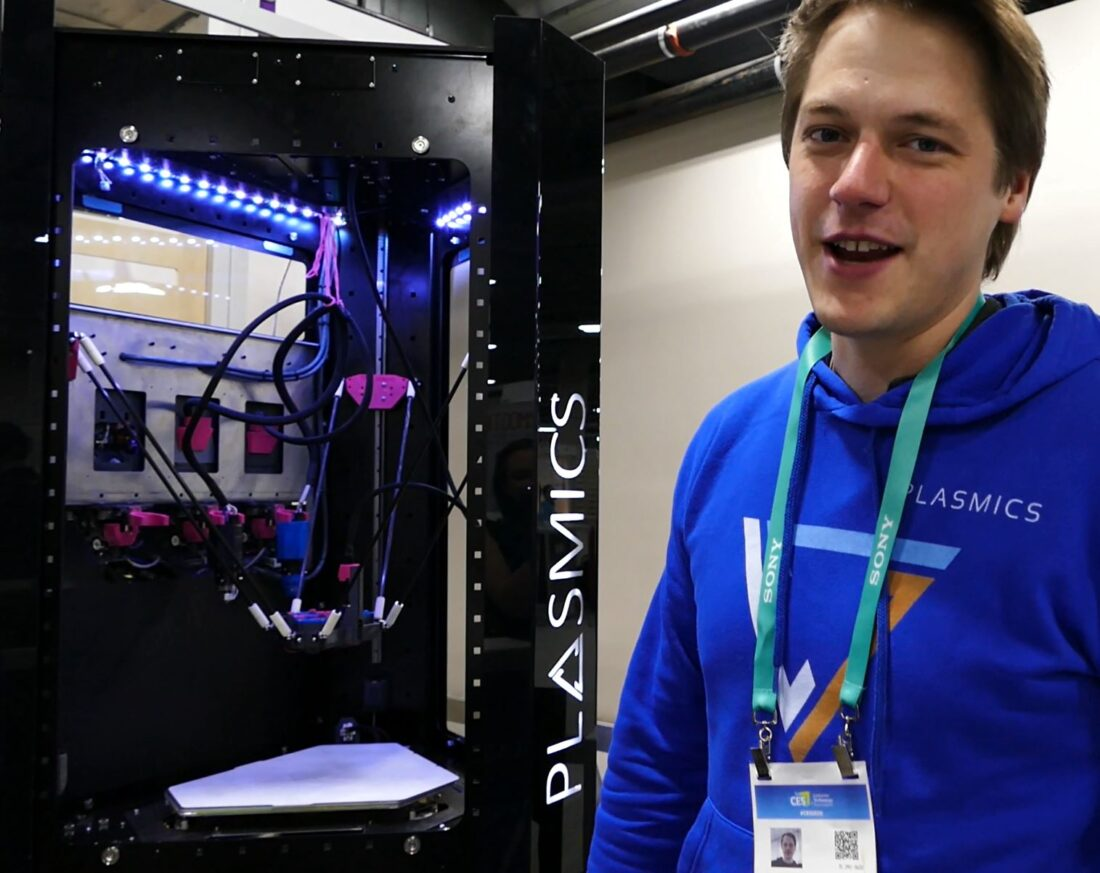Plasmics is soon to bring us their multiple material 3D printer without the fuss of having to manually change out print heads.