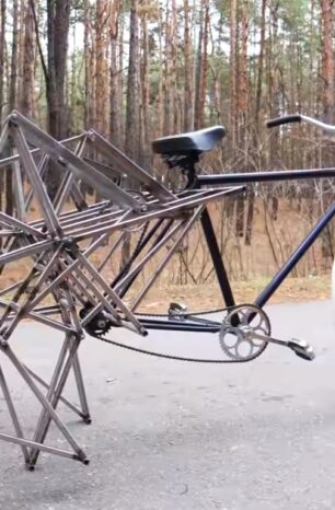 Tired of Two-Wheeled Bicycles? Here's One That Walks.