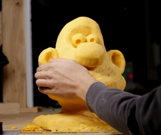 Start Your Monday With a 'Wallace and Gromit' 40 LB Stop Motion Cheese Sculpture