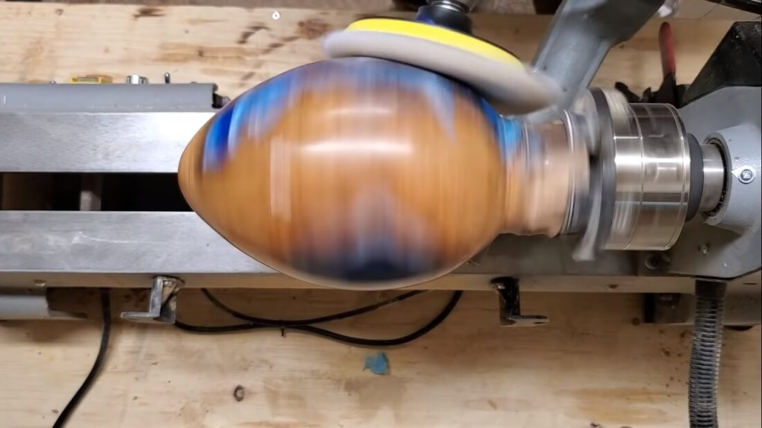 Woodturning Nessie Egg