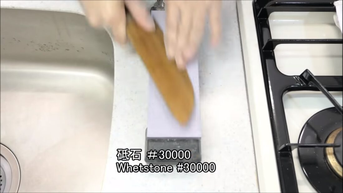 lignum vitae wood knife