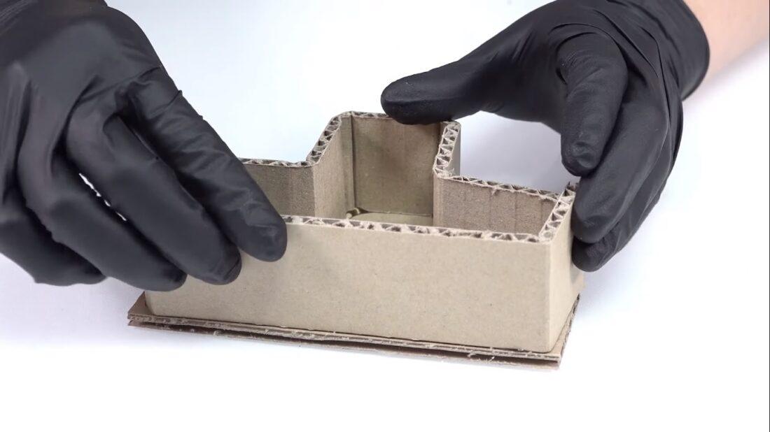 cardboard tetris
