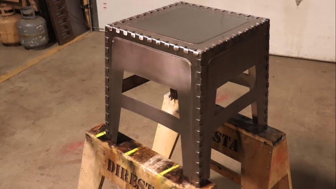 steel finger joint stool