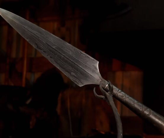 A Viking Spear Made Using Traditional Methods
