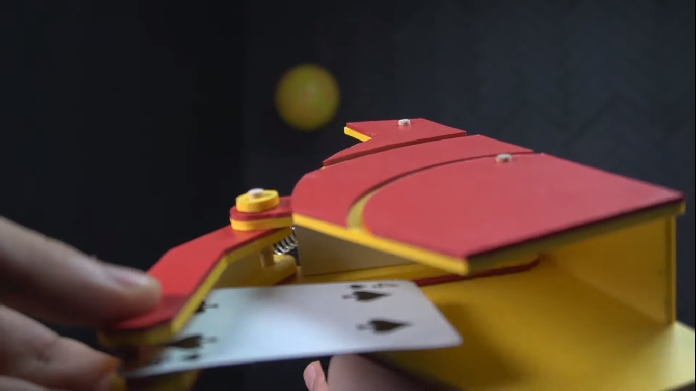 DIY card shooting gun