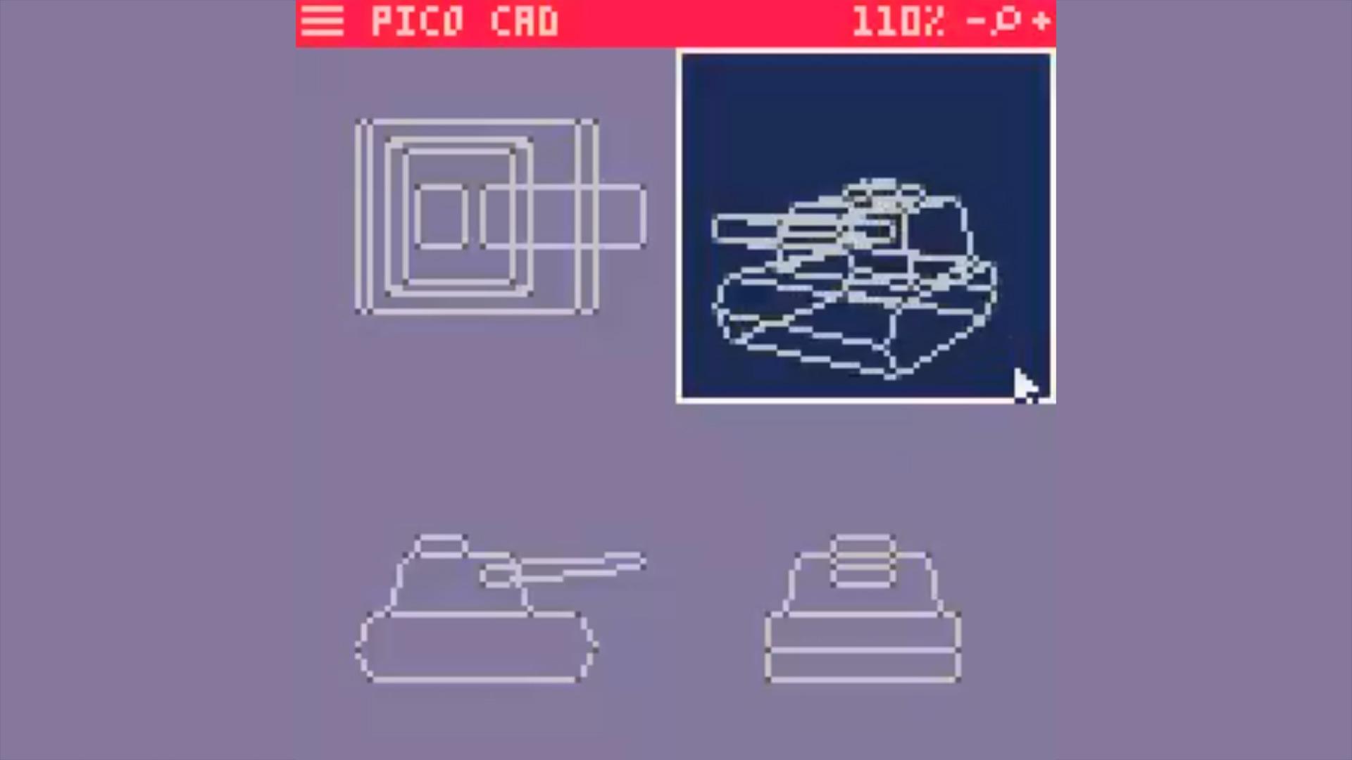 Pico CAD 8-bit 3d modeling