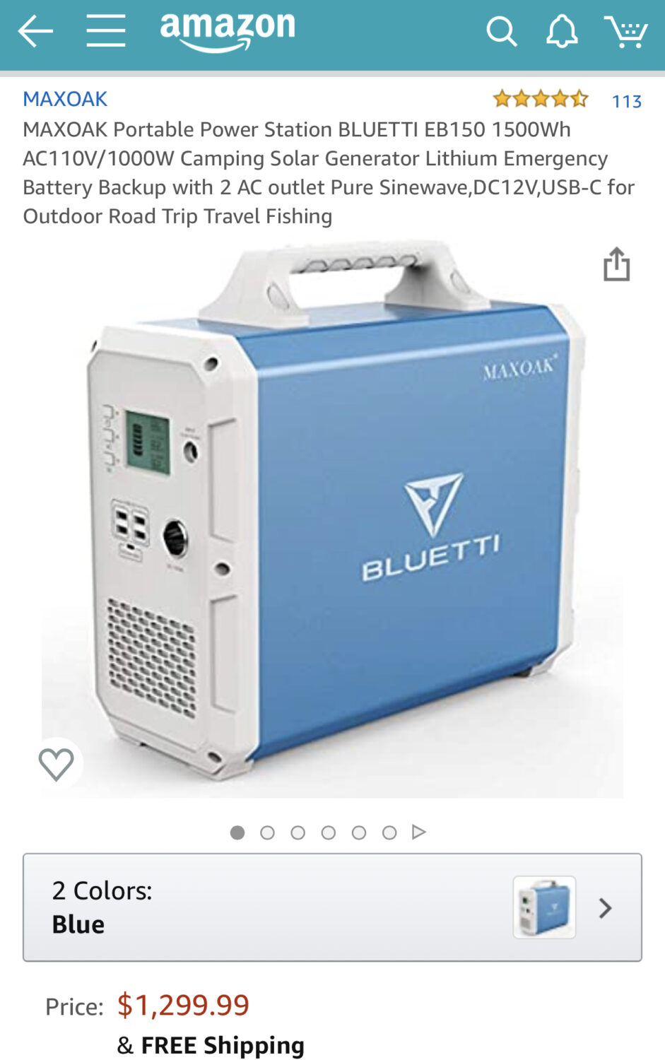 This Bluetti solar generator is the one I purchased, and also ultimately returned through no fault of MAXOAK.