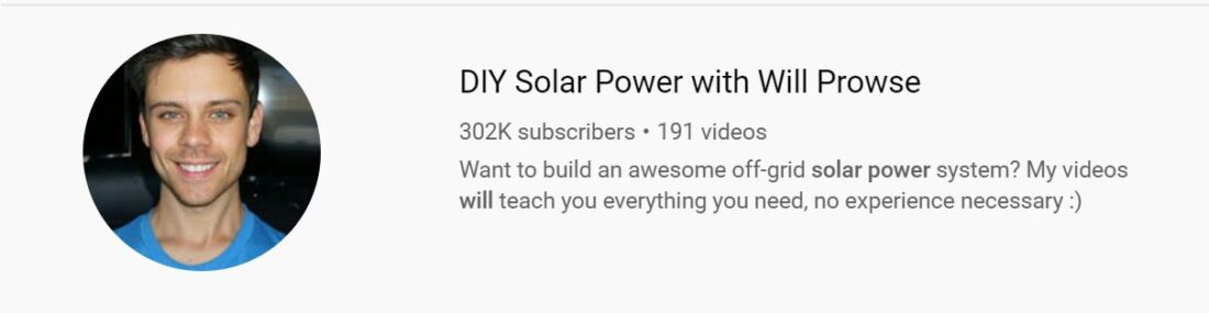 Check out Will Prowse's YouTube channel for excellent DIY solar tips and instruction.