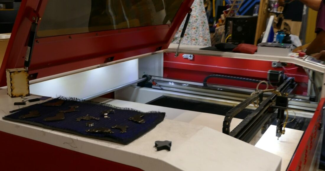 80W CO2 laser for cutting and engraving at TinkerMill.