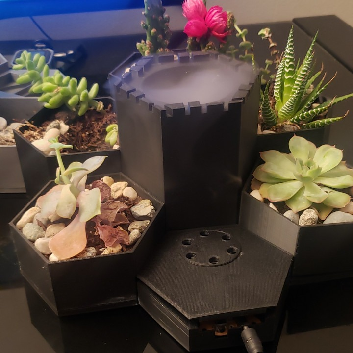 3d printed Fountain mist garden