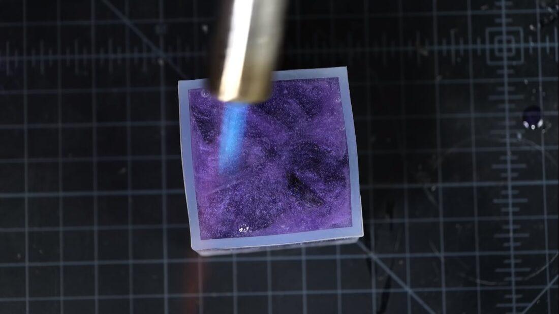 obsidian resin block
