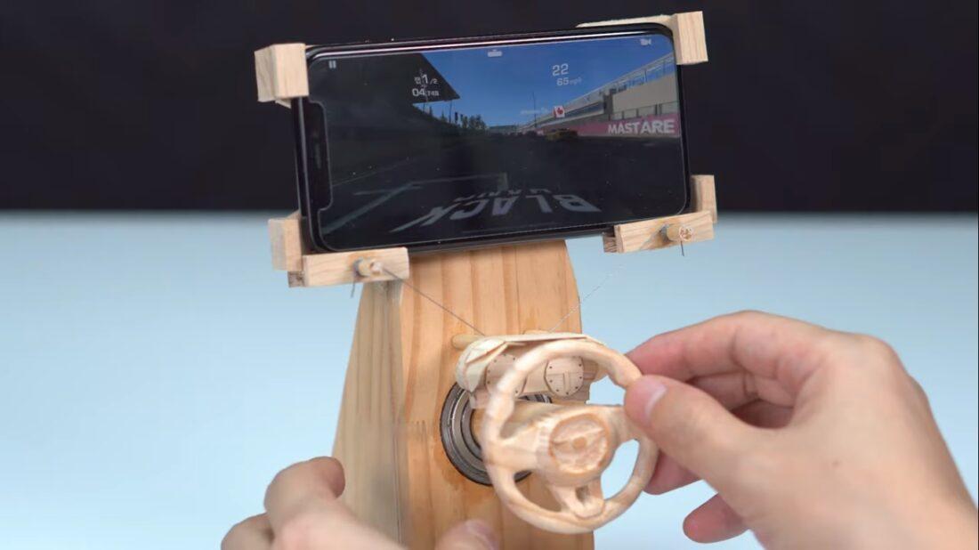 DIY racing game controller