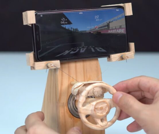 Make a Wooden Racing Sim Controller For Your Mobile Phone