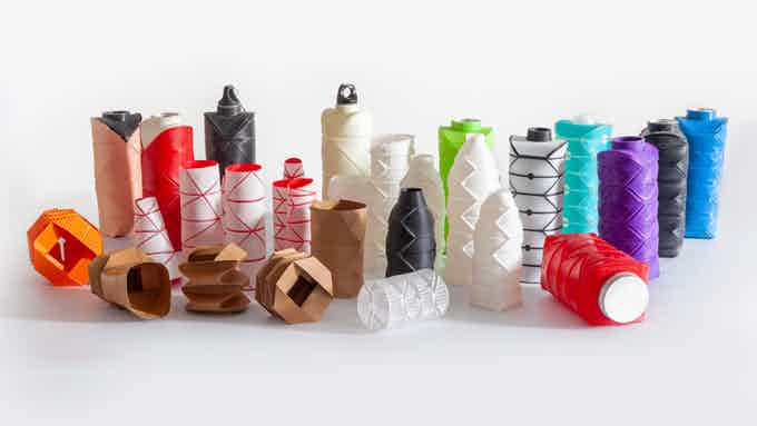 difold origami bottle