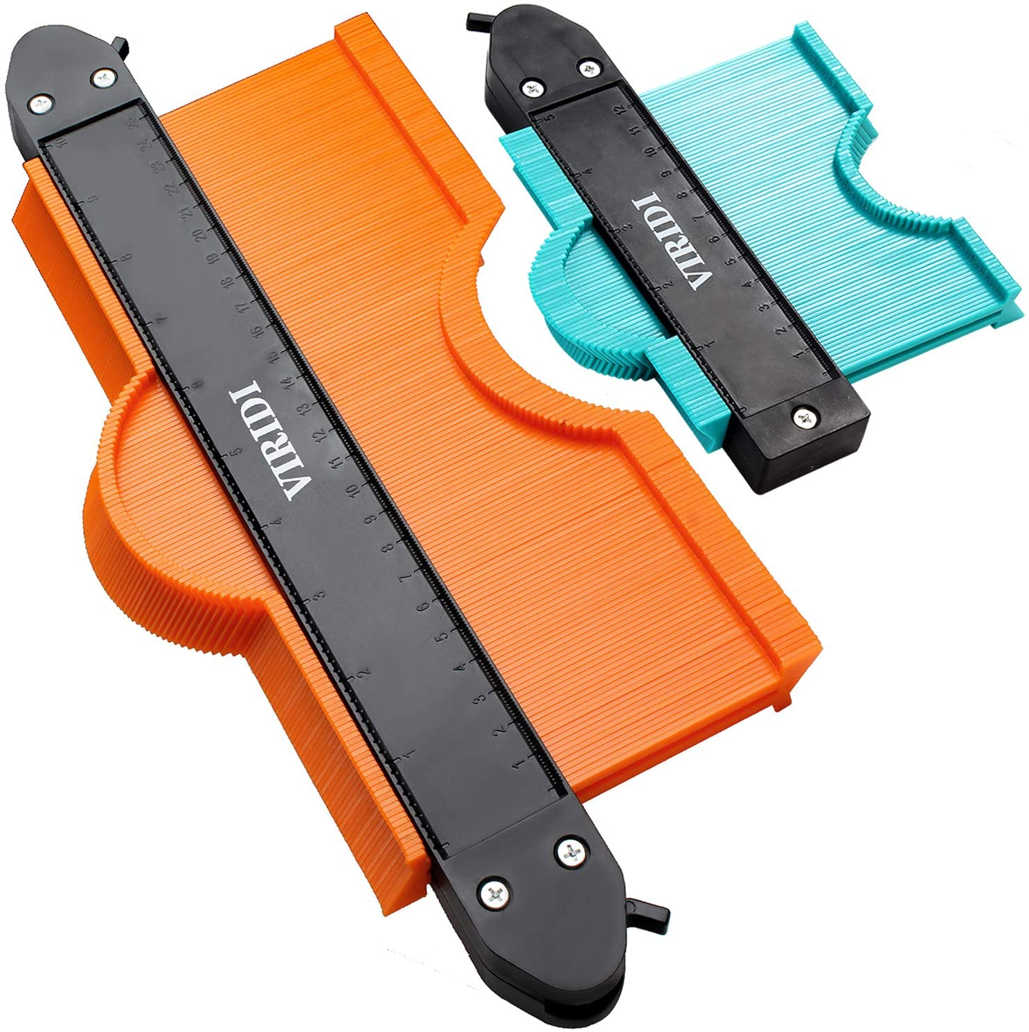2 Pack Precisely Copy Irregular Shape Duplicator Profile Tool for Professional Measurement Wood Flooring Contour Gauge with Lock Pipes Tiles 5 inch /& 10 inch
