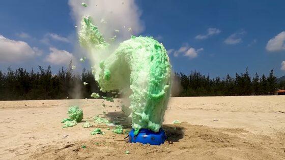 soda mentos explosion