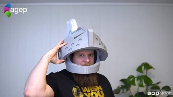 3d printed lego helmet