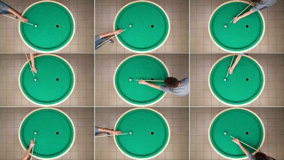 eliptical pool table