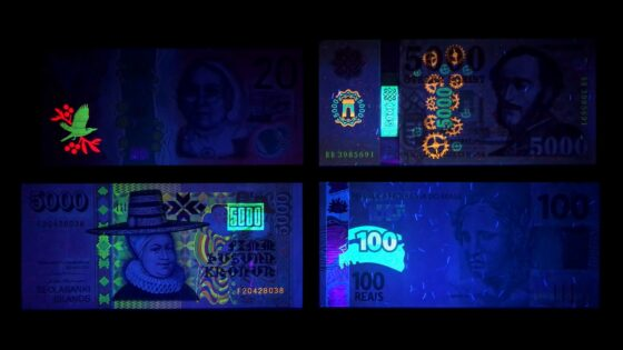 bank notes invisible ink