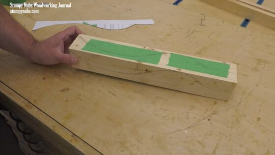 curved wood legs woodworking