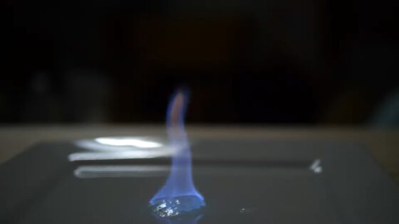 hand sanitizer invisible flame