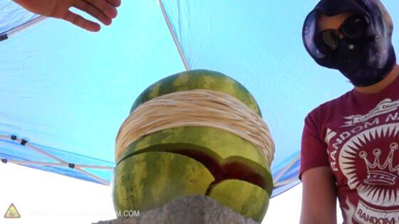 rubber banded fruit