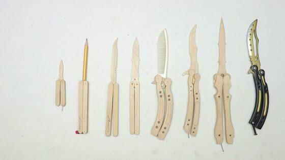wooden butterfly knife
